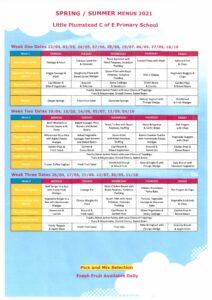 menu spring/summer 2021
